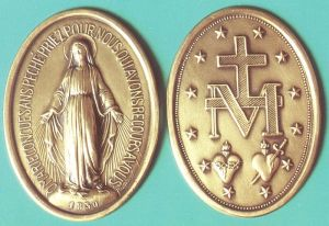 "The Medal of the Immaculate Conception, popularly known as the ""Miraculous Medal,"" which St. Kolbe referred to as the ""silver bullet,"" in our ongoing battle against the wiles of the Evil One."