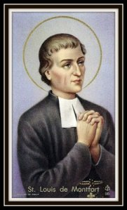 The great champion of Marian Consecration, St. Louis Marie de Montfort.