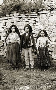 Lucia, Francisco and Jacinta - visionaries of Fatima.