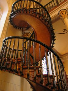 "The ""Miraculous Staircase"" of ""Our Lady of Light"" Chapel in Sante Fe, New Mexico, which (1) defies the laws of gravity and physics in that it should not be capable of standing, much less of being used continually, a it has been and still is; (2) was constructed by a mysterious bearded man who carried only the most primitive of tools, an who used neither nails, nor glue, nor wood that was indigenous to that geographical space or time period (this species of wood had been extinct at the time it was built; (3) which is comprised of exactly 33 stairs - a mystical number that represents the number of years that Christ lived on earth.  Moreover, Christ is, himself, quit literally our ""stairway to heaven,"" as he clearly states in John 14:6: ""I Am the Way, the Truth and the Life.  No one comes to the Father except through Me."""